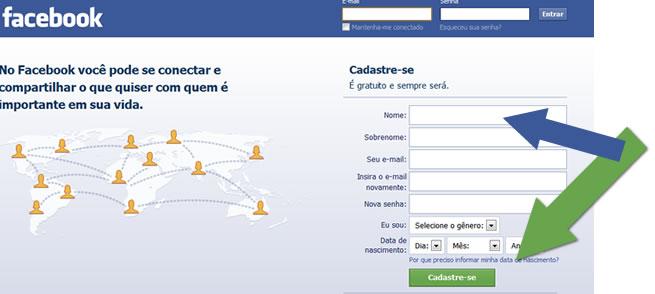 como fazer facebook 2
