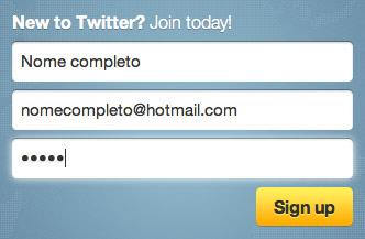 como fazer um twitter 2