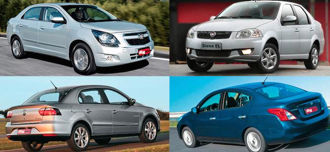 carros mais vendidos sedan